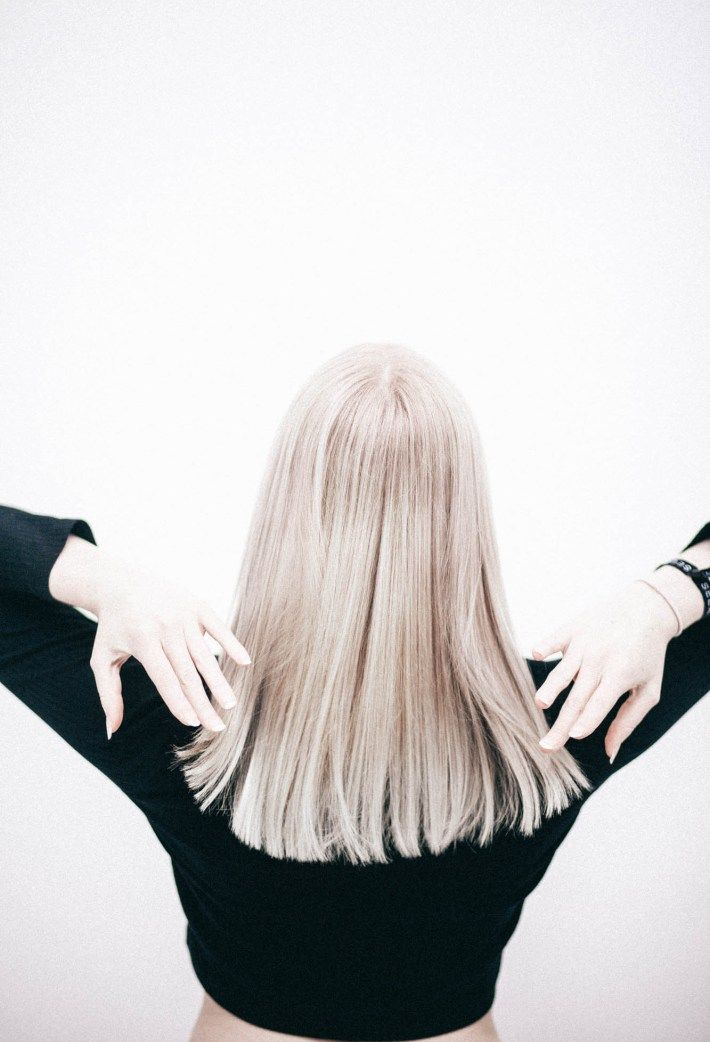 Straight across cuts can make your hair look longer, more chic and pulled together without having to wear it up. LOUISE WHITEHOUSE