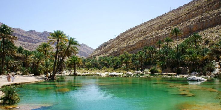 Wadi Bani Khalid is a wadi about 203 km from Muscat, Oman. It is the best-known wadi of the Sharqiyah region. Its stream maintains a constant flow of water throughout the year.