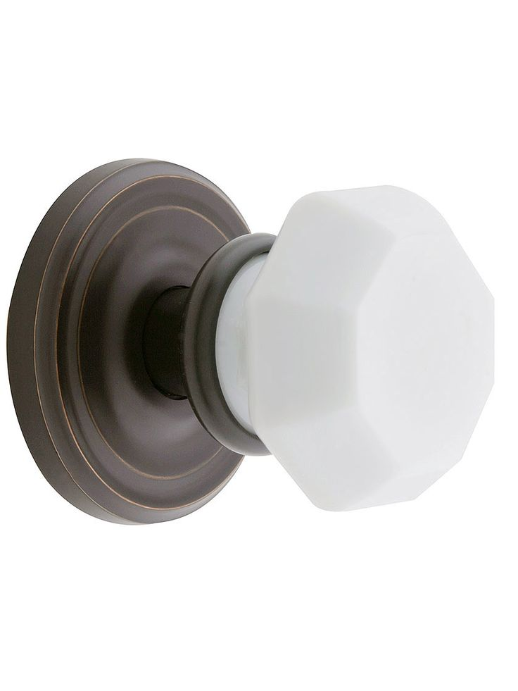 Milk Glass Door Knobs