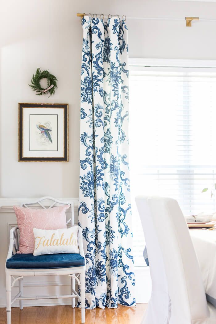 Blue And White Christmas Decorations The Home I Create White Curtains Living Room Blue And White Living Room Blue And White Curtains