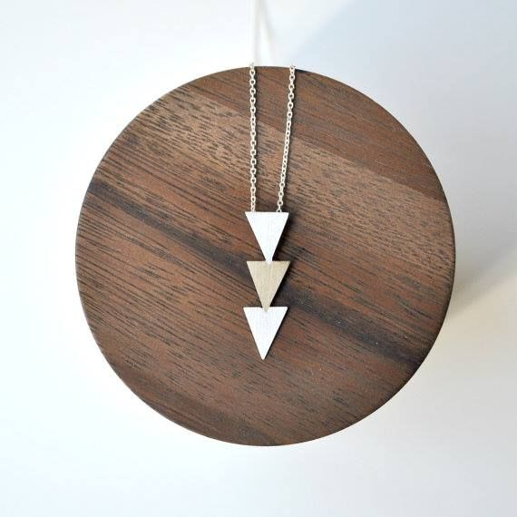 SPOILER ALERT !  Triangle Necklace of Bronze Rocks and Mountains collection 104$  by The Angry Weather