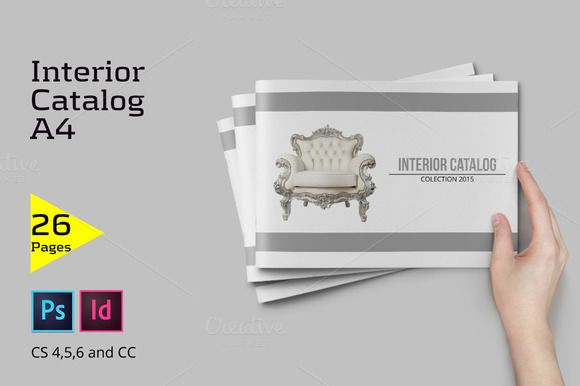 A4 Interior Catalog by Firtana on @creativemarket