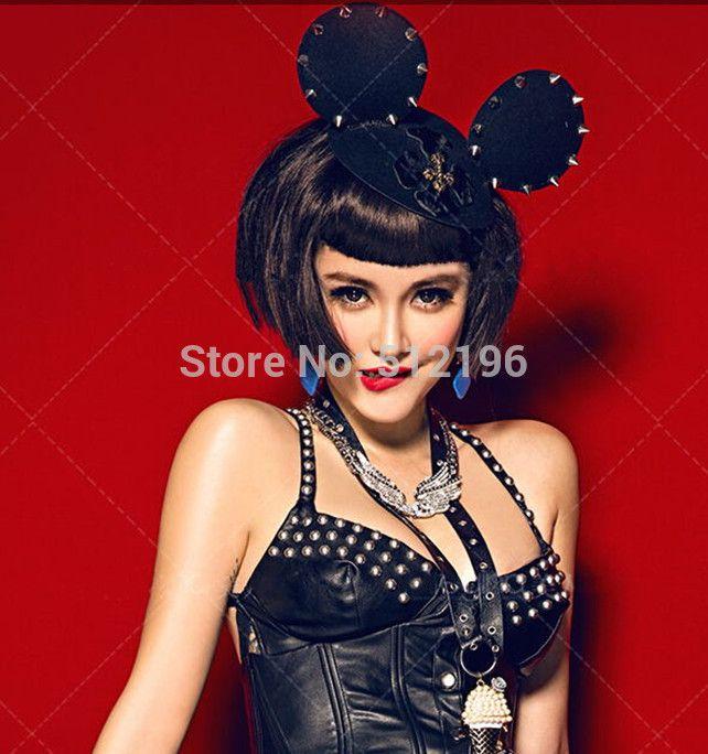 AHO379 (12), zwarte Muis Oren Met Cross Spikes Stud Haarbanden Hoofdbanden Voor Kerst Halloween Party Fotografie Props in Model Foto (alleen voor referentie):onze echte items: van haaraccessoires op AliExpress.com | Alibaba Groep