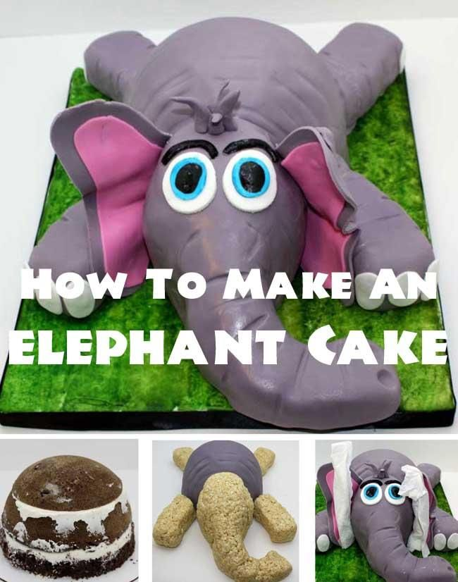 Learn how to make a fun elephant cake, for your boy's next birthday party, with this easy step-by-step tutorial!