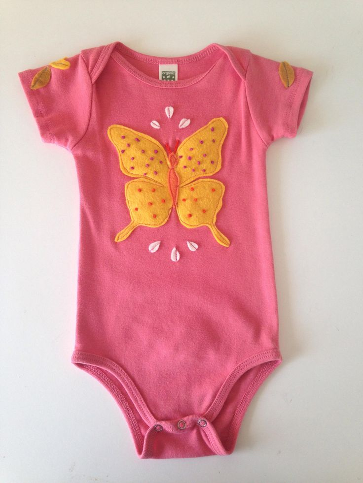 Excited to share the latest addition to my #etsy shop: Butterfly: Organic Cotton Onesie With Custom EcoFi Felt Appliques http://etsy.me/2j2XNau #clothing #children #onesie #baby #ecofi #feltappliques #organiccotton #organiconesie #appliques