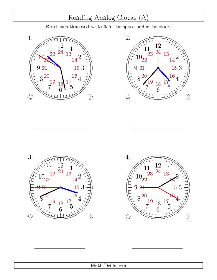 24 hour clock math worksheets