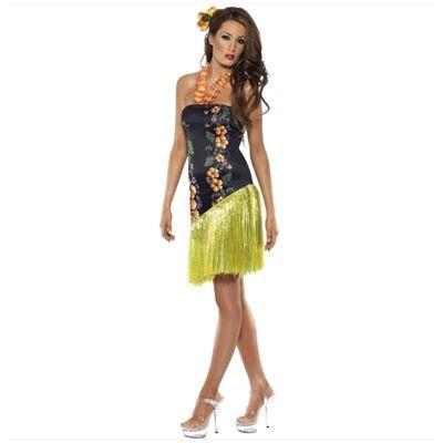 Hawaiiaans jurkje dames. Hawaii of tropisch feestje? Bij Fun en Feest vind je de leukste Hawaii feestartikelen, kostuums en accessoires. Toppers Crazy Summer kleding tip!