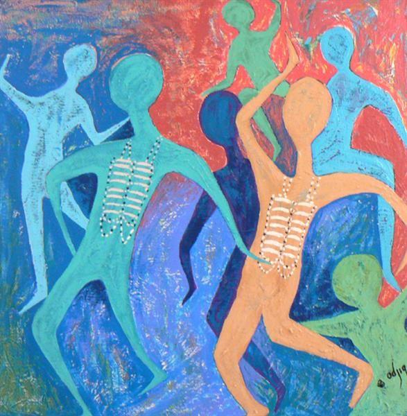 SPIRIT DANCERS ~ Artist: Daphne Odjig