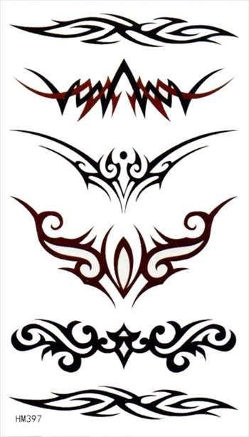 【楽天市場】タトゥーシール【即納・同梱無制限】最上級・長持ち 刺青シール・ボディシール トライバル TATTOO /hm397/:The Fantasy