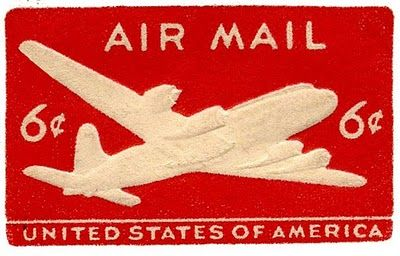 Vintage Airmail Images -Airplane - The Graphics Fairy