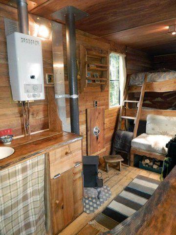 Luton 2013 wooden interior of truck