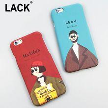 Moda Dos Desenhos Animados O Assassino Leon e Mathilda Profissional Capa Para iphone 6 caso para apple iphone 6 s plus 5 5S casos de telefone Capa(China (Mainland))