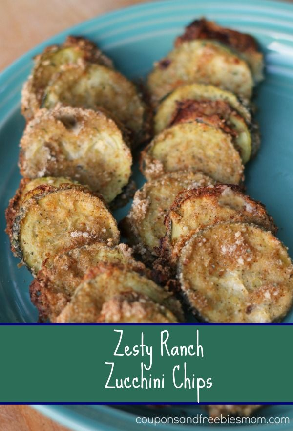 Easy Zesty Ranch Zucchini Chips! You won't believe how simple and addictive these zesty ranch zucchini chips are! Quick to make - great for parties, appetizers, and for the kiddos! Check out this quick and easy recipe right now!