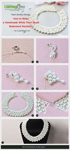 Pearl Jewelry Design - How to Make a Handmade White Pearl Bead Statement Necklace from LC.Pandahall.com