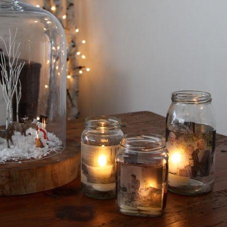 THE PERFECT #DIY #GIFT  MASON JAR PHOTO CANDLES