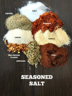 DIY Seasoned Salt: The perfect blend of spices that will jazz up any recipe. Leave out the salt for a copy-cat version of Salt-Free All Purpose Seasoning.