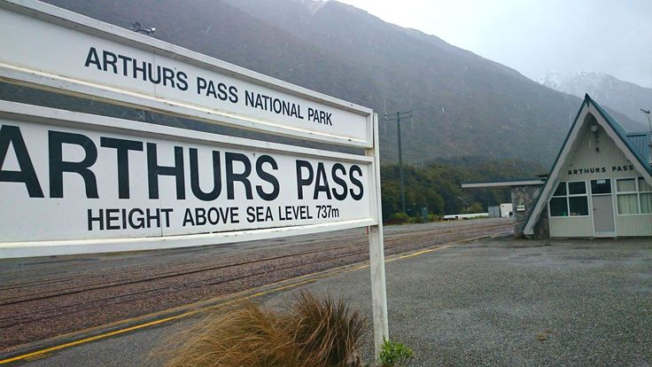 One of New Zealand's Most photographed station - Arthurs Pass, in the Southern Alps