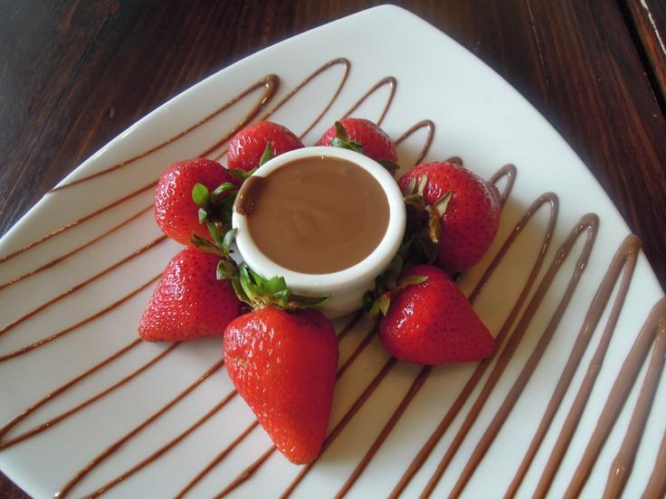 chocolate dip. mmm.