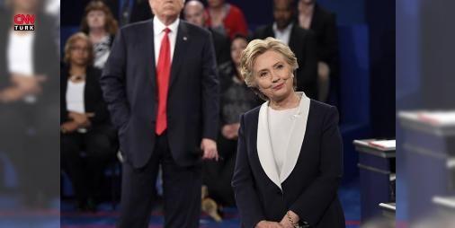 Hillary Clinton ve Donald Trumpın ikinci canlı yayın kapışması sert geçti : ABDde başkan adayları ikinci kez canlı yayında kapıştı. Gündem maddelerinden biri Cumhuriyetçi aday Donald Trumpın kamuoyuna sızan ses kaydında kadınlar için kullandığı müstehcen ifadelerdi. Trump kayıt için  Gurur duymuyorum özür diledim  dedi ve Clintonun eşi eski ABD Başkanı Bill Clintonun cinsel saldırısına uğradığını ileri süren salondaki dört kadının iddialarını anlattı. Clintonun email skandalını da gündeme…