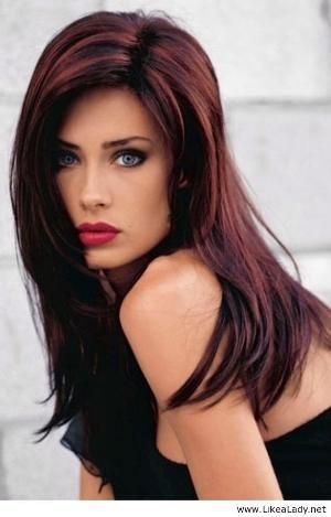 Brunette with red highlights...maybe for fall of next year by katee