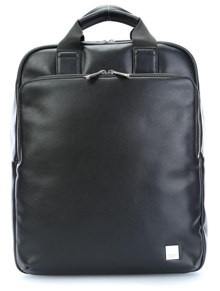 wardow.com - #backpack #Knomo Brompton Dale 15'' Laptop-Rucksack Leder schwarz 40 cm