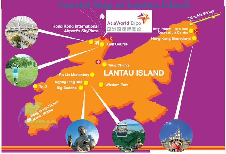 Tourist Map of Lantau Island