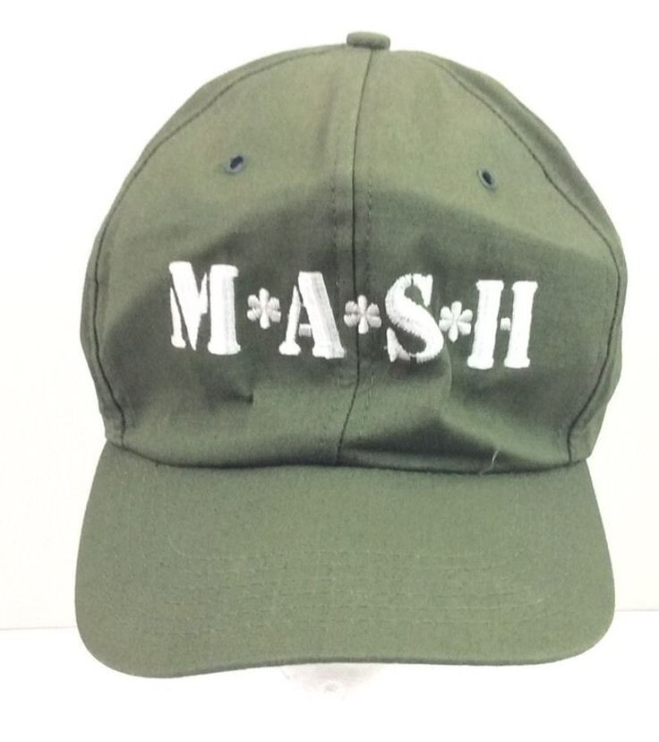 VNTAGE M*A*S*H US ARMY GREEN SNAP BACK HAT CAP #Unknown #BaseballCap