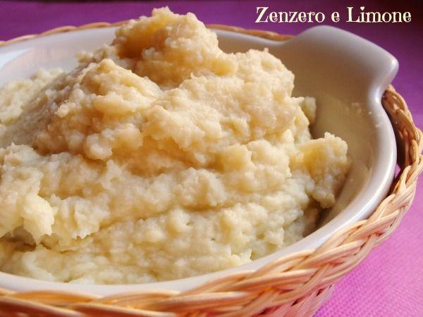PURÈ di CAVOLFIORE    500 g di cavolfiore (pesato pulito) 100 ml di latte 30 g di formaggio fiocchi di patate (40 g circa) sale