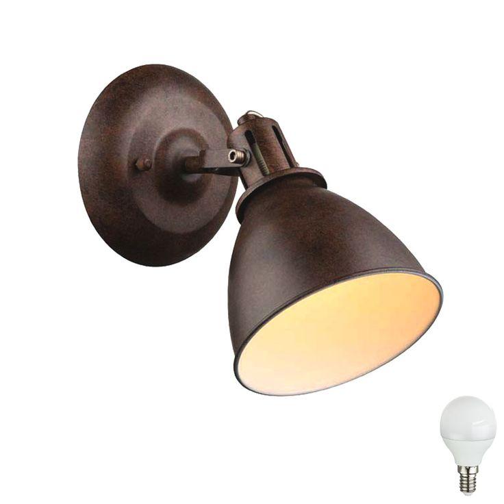 Vintage Hochwertige LED Wandleuchte mit beweglichem Spot Lampen u M bel Innenleuchten Wandleuchten