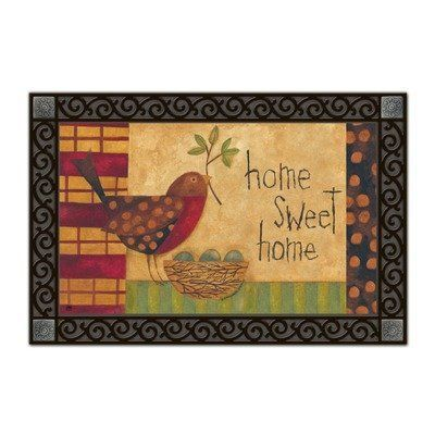 Mother Robin Matmate Doormat by Magnet Works, Ltd.. $21.99. Use MatMates Doormats alone or with the decorative tray (as shown).. Made with non-slip rubber. Vibrant colors, fade-resistant doormats.. Weatherproof outdoor doormats or use as indoor doormats.. MAIL16759 Features: -Material: Recycled rubber.-With a non woven polyester face.-Weatherproof.-For indoor/outdoor use.