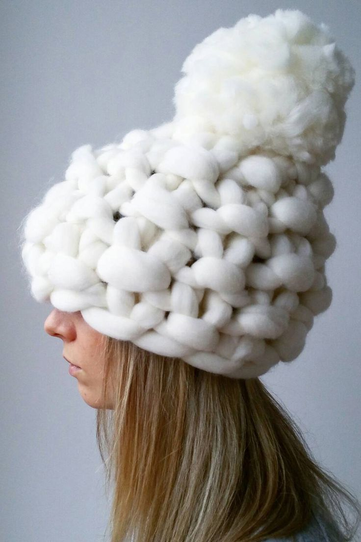 Like a chunky knit blanket, but for your head.