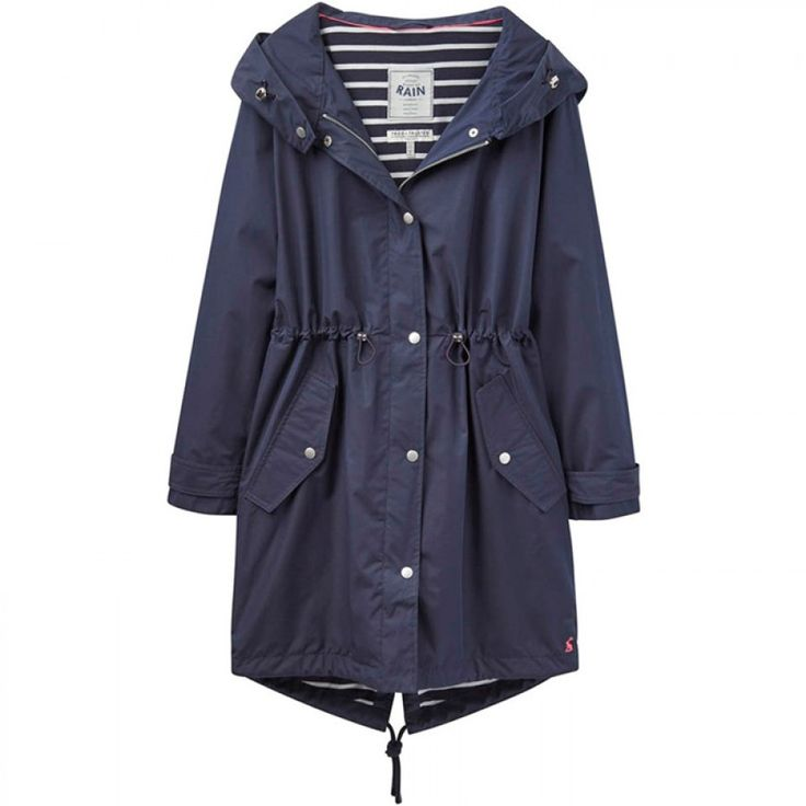 Joules Swithin Waterproof Parka-Style Coat - Marine Navy ...