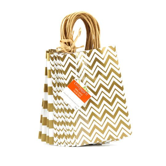 Small Paper Bag Value Pack by Celebrate It™, Gold Print