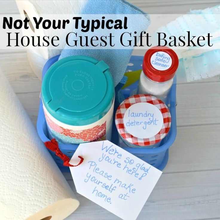 Welcome your guests with this not your typical house guest gift basket so that they can make themselves at home.