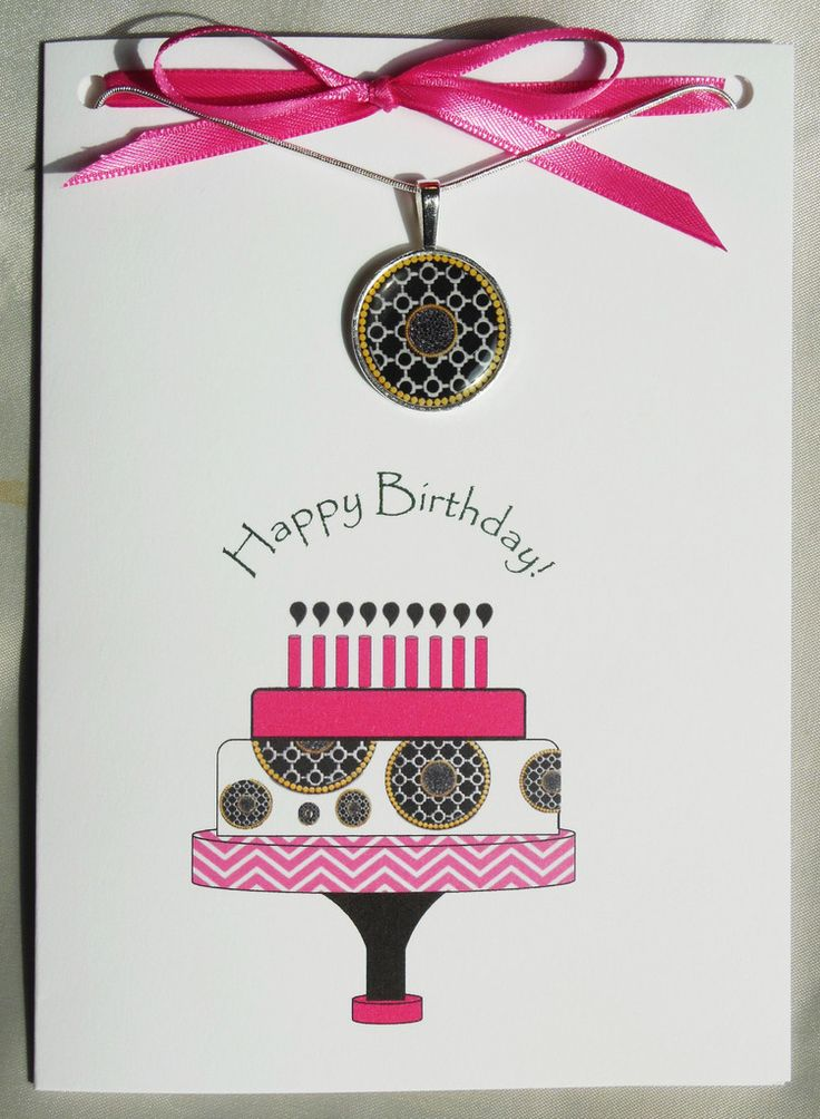 If John Hardy designed a birthday card it would look like this...way to be on trend Girl Power Cards!  Browse the trendy collection of birthday cards with matching necklaces. Great unique gift idea.