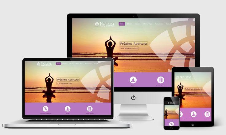 Páginas Web para Centros de Masajes en Málaga. Diseño Web Corporativo Málaga.