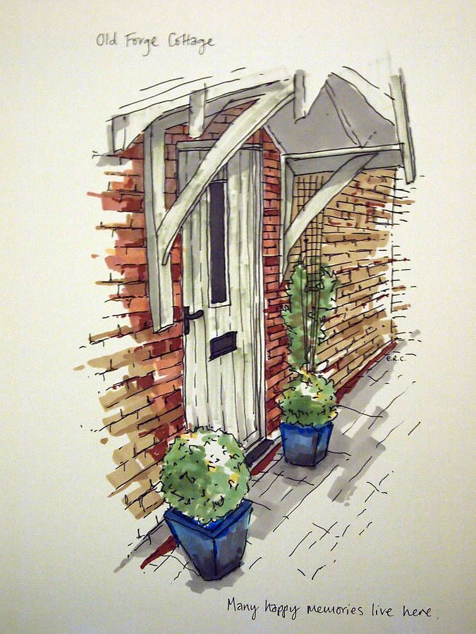 Cute way to immortalise your lovely front door!  www.homemadehouse.co.uk