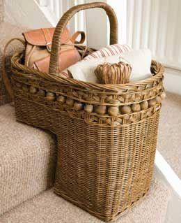 Gotta Love A Stair Basket!