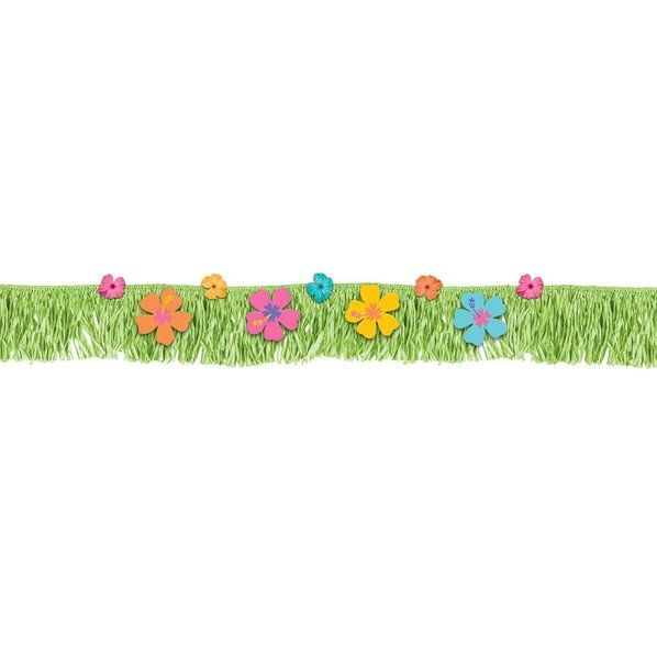 Check out Hibiscus Fringed Banner with Paper & Fabric Flowers - Cheap Party Decorations & Accessories from Wholesale Party Supplies