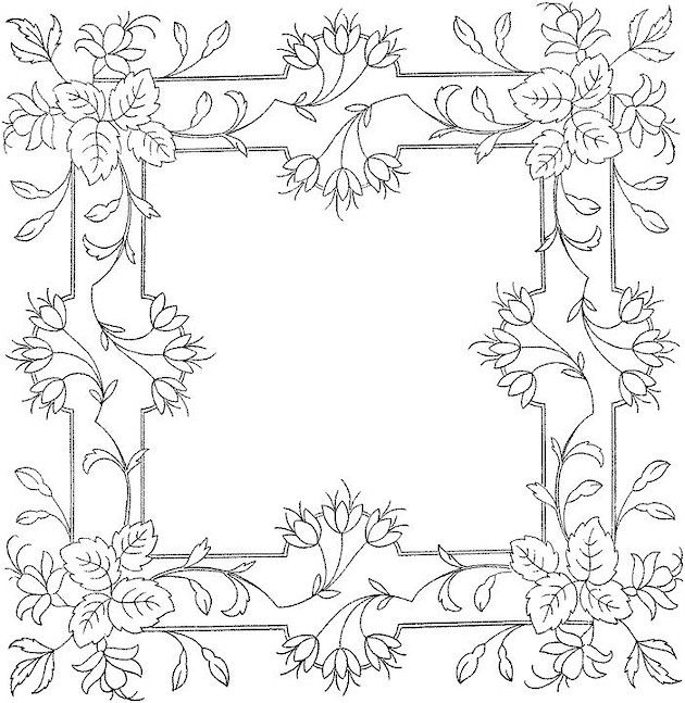 flower detailed coloring pages - photo#12