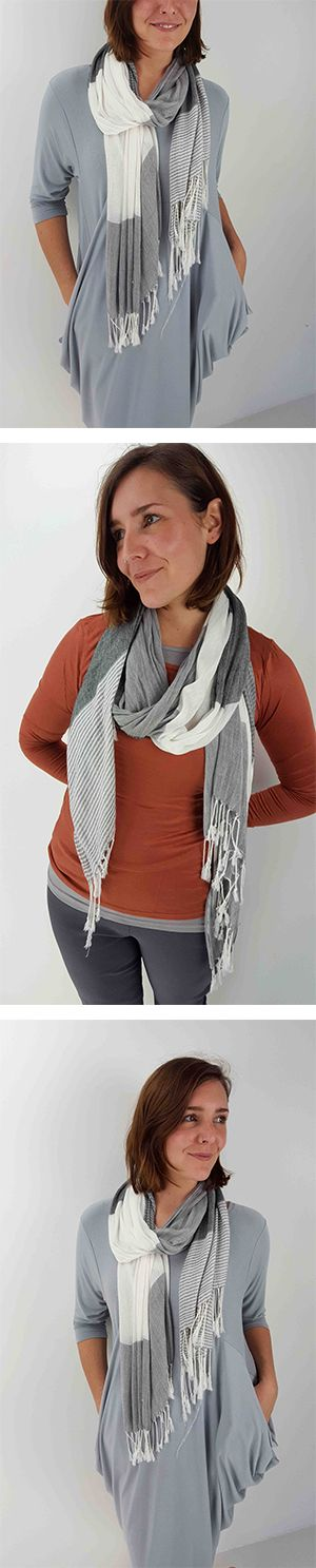 Light-as-a-feather, silky soft viscose scarf. This one is the perfect 'all-season' piece to add a little flavour to your outfit on those slightly 'nippier' days. Soft + light, this scarf is so comfortable you'll forget you're even wearing it!   Shop this style >> Online or visit us in Noosa! <3  www.kobomo.com.au