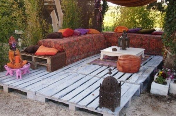 How to Build Pallet Furniture | Pallet Patio Deck (Unique use of Pallet) | Pallet Furniture DIY