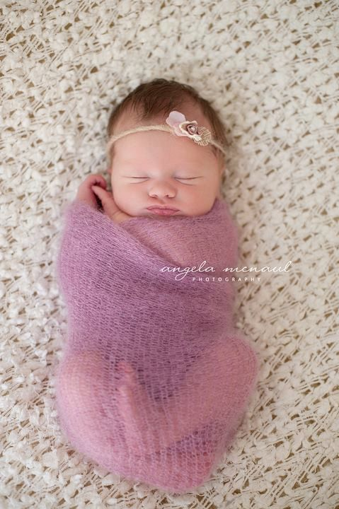 Knit Baby Blanket Newborn Baby Mohair Wrap Photography
