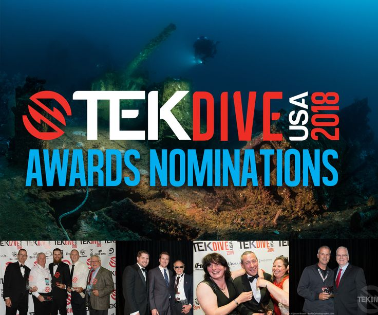 It's time for the TEKDiveUSA.2018 Technical Diving Awards Nominations!