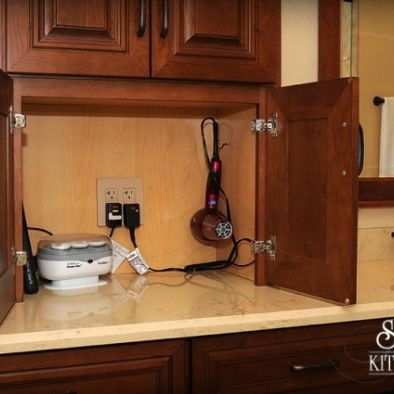 145 best images about kitchen on pinterest storage ideas for Hidden kitchen storage ideas