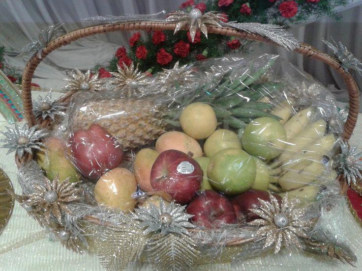27 best gift basket images on pinterest baskets flower fruit basket decoration negle Images