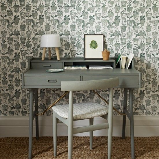 Sage green home office   Home office decorating ideas   Homes  Gardens   Housetohome.co.uk