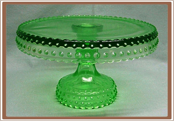 Cut Glass Cake Plate