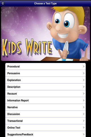 Kids Write Text Types is a tool to help teachers and students with writing. Each text type includes the structure/format, features, and examples. The many ideas/writing prompts are provided to help get students started.