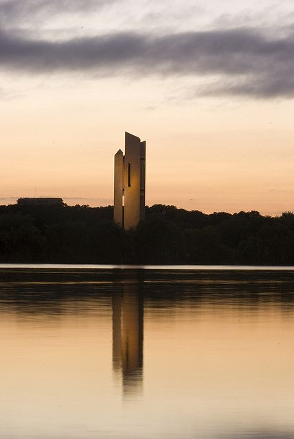 The National Carillon at sunrise, Canberra, Australia